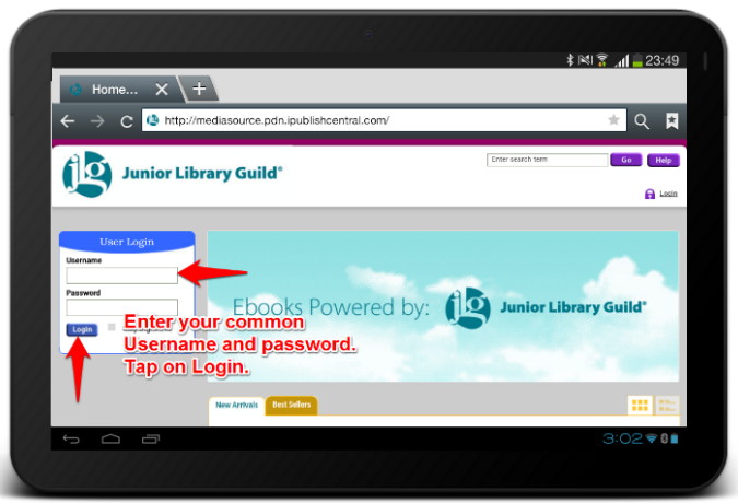 Download on an Android Tablet - Knowledgebase / Junior